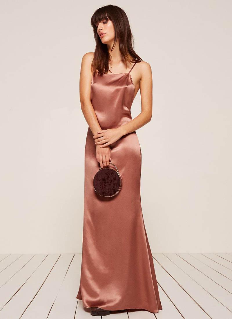Reformation Rosie Dress in Praline $218