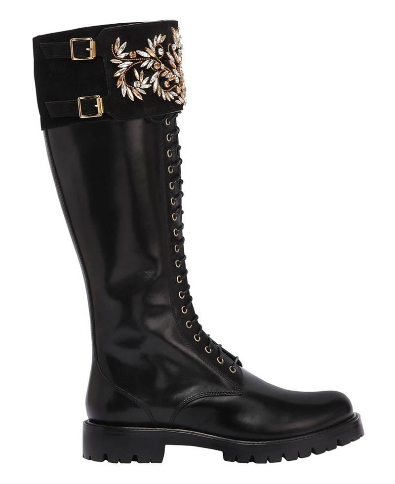 René Caovilla x LVR Edition Swarovski Leather Boots $2,770