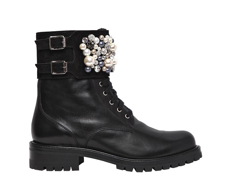 René Caovilla Swarovski Leather Boots $1,932