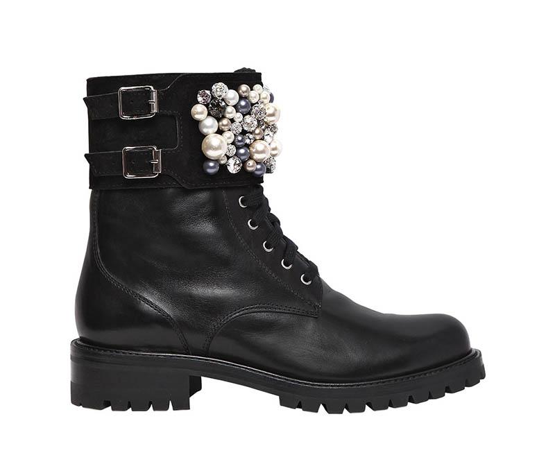 René Caovilla Swarovski Leather Boots $1,932