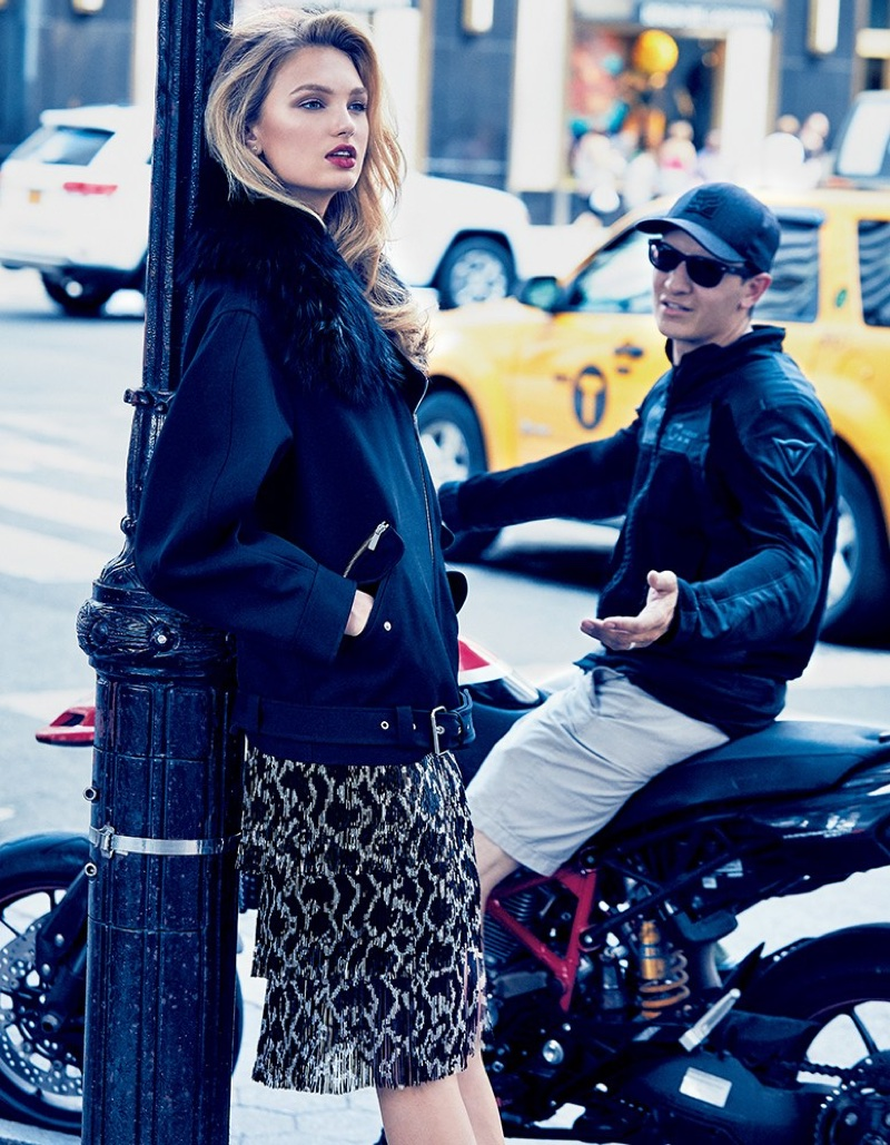 Romee Strijd Brings Michael Kors Style to the Streets in Vogue Japan