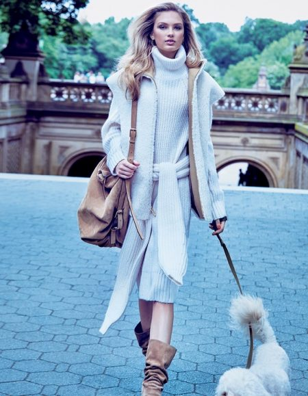 Romee Strijd Brings Michael Kors Style to the Streets in Vogue Japan