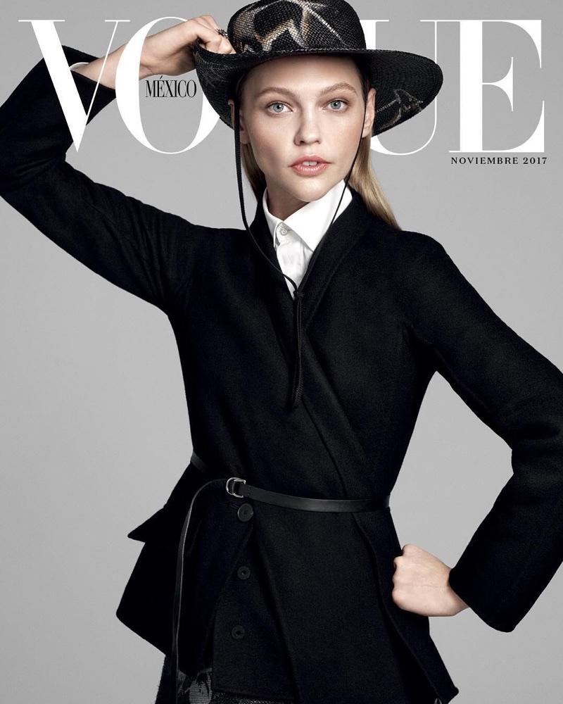 Sasha Pivovarova Embraces New Season Styles in Vogue Mexico