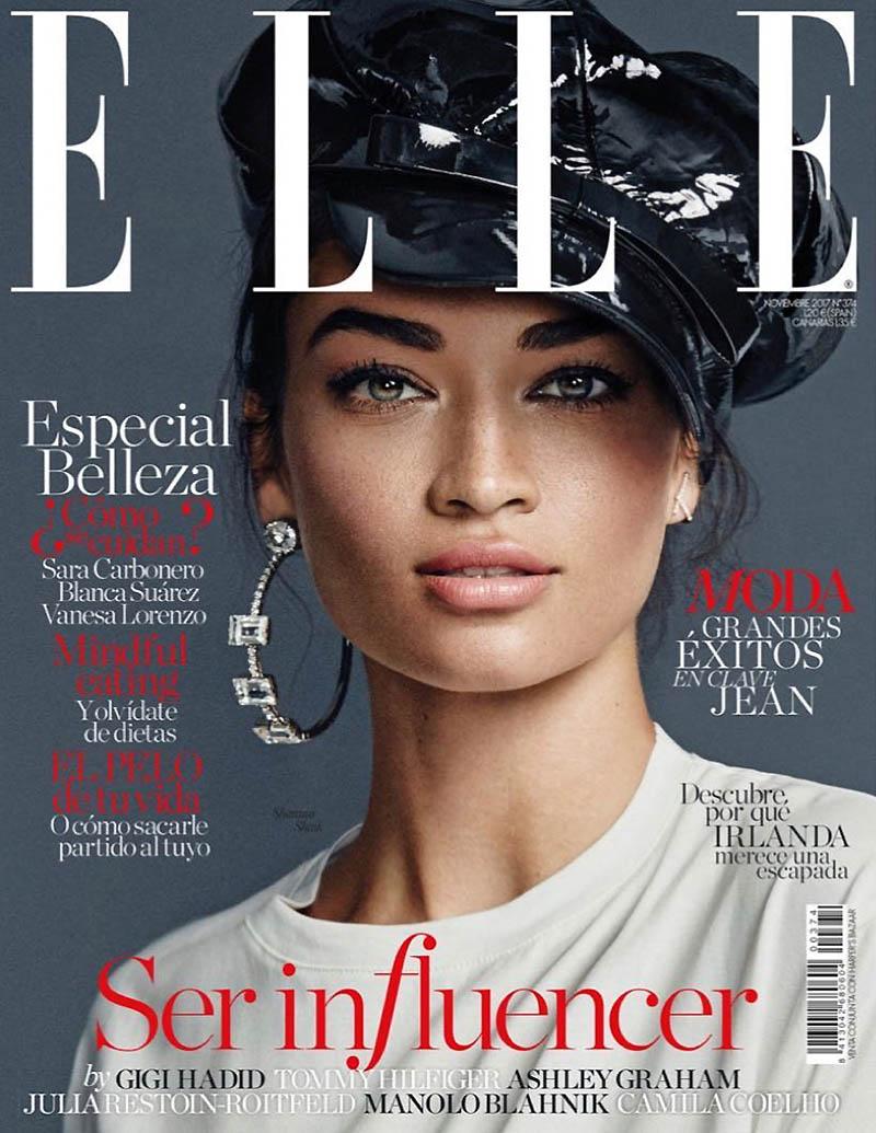 Shanina Shaik Wears Black & White Styles for ELLE Spain | Fashion ...