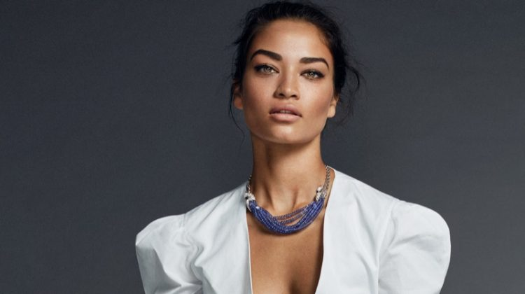 Shanina Shaik Wears Black & White Styles for ELLE Spain