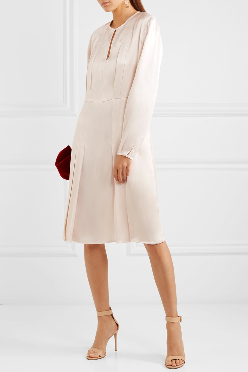 Stella McCartney Pleated Satin Dress $1,745