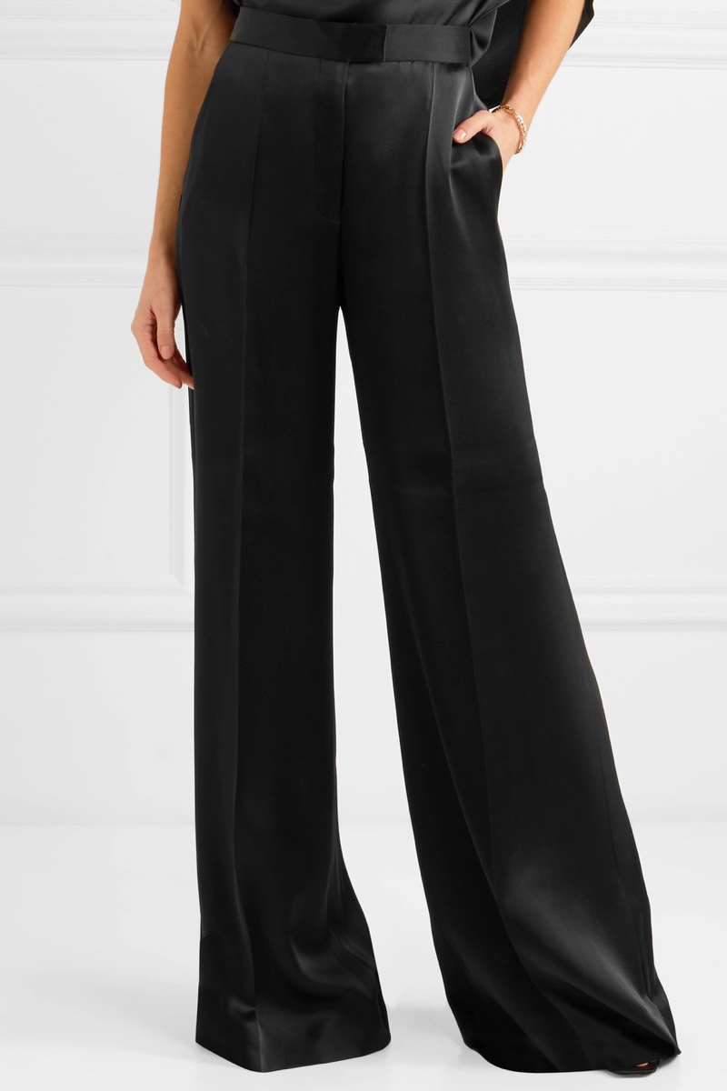 Stella McCartney Satin Wide-Leg Pants $810