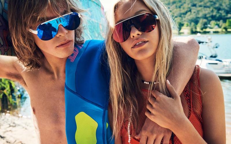 Lotta Embraces Colorful Beach Fashion in Grazia Australia