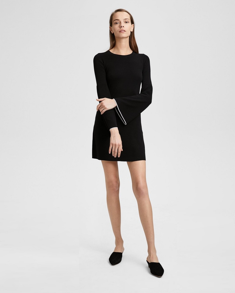 Theory Bell-Sleeve Mini Dress $201 (previously $335)