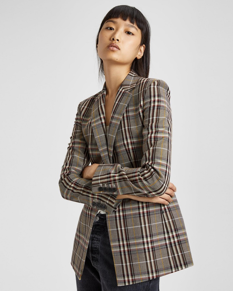 Theory Wool Plaid Power Jacket $357 (previously $595)