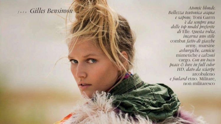 Toni Garrn Layers Up in Cold Weather Looks for ELLE Italy