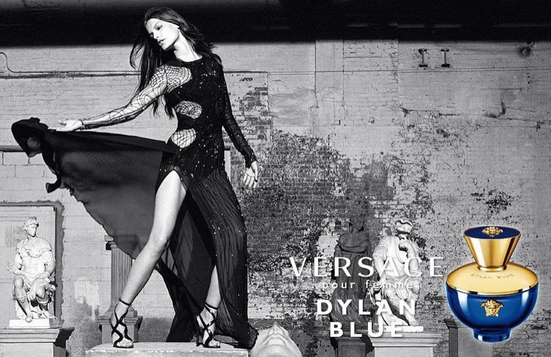 Faretta appears in Versace Dylan Blue pour Femme fragrance advertisement