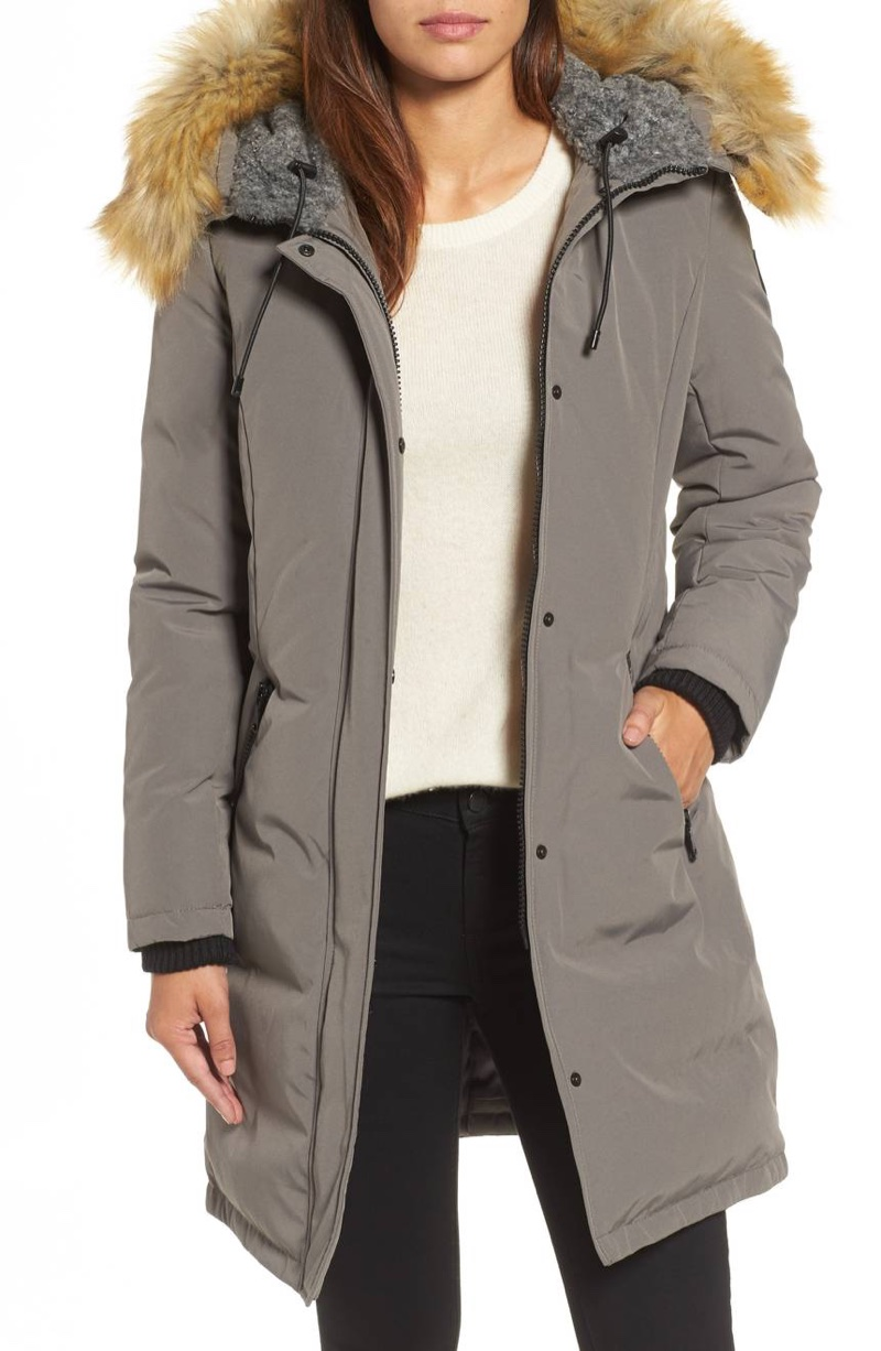 Vince Camuto Down Feather Fill Parka with Faux Fur Trim $199.90 (previously $298)