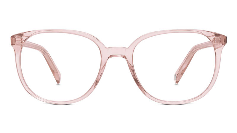 Warby Parker Eugene Small Glasses in Rose Crystal $95