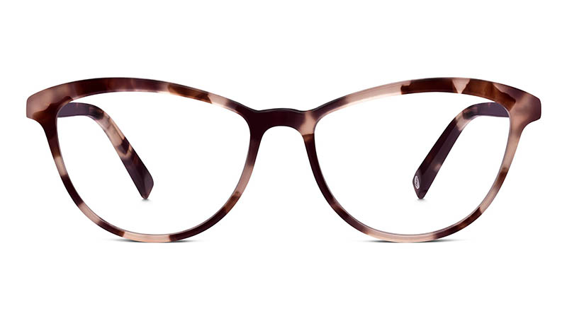 Warby Parker Louise Small Glasses in Blush Tortoise $95