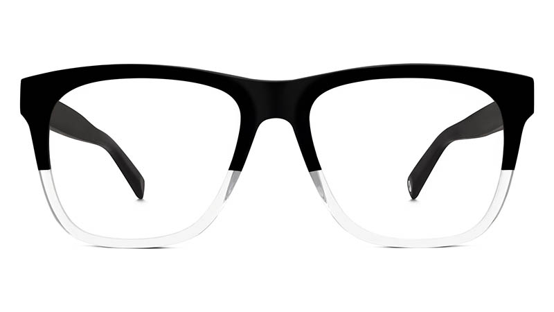 Warby Parker Lowry Glasses in Jet Black Fade $95