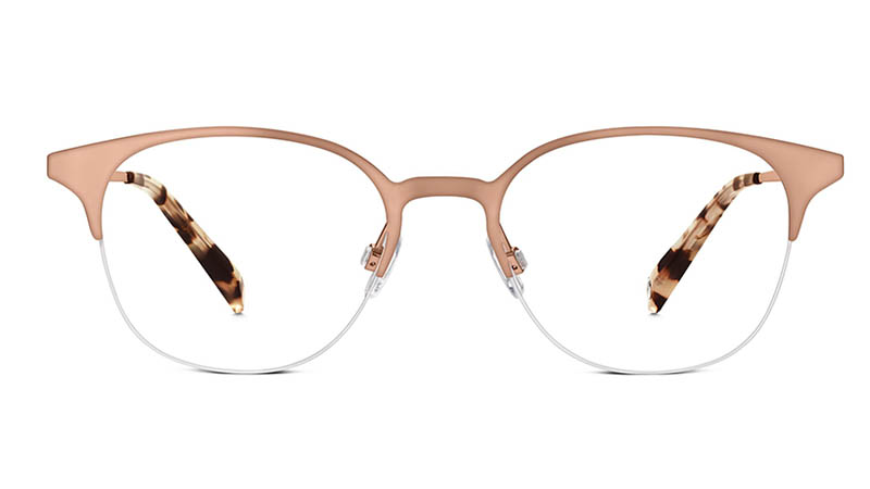 Warby Parker Violet Glasses in Rose Gold $145