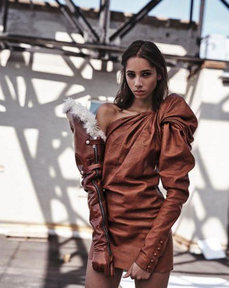 Yasmin Wijnaldum Smolders in Saint Laurent for Vogue Korea
