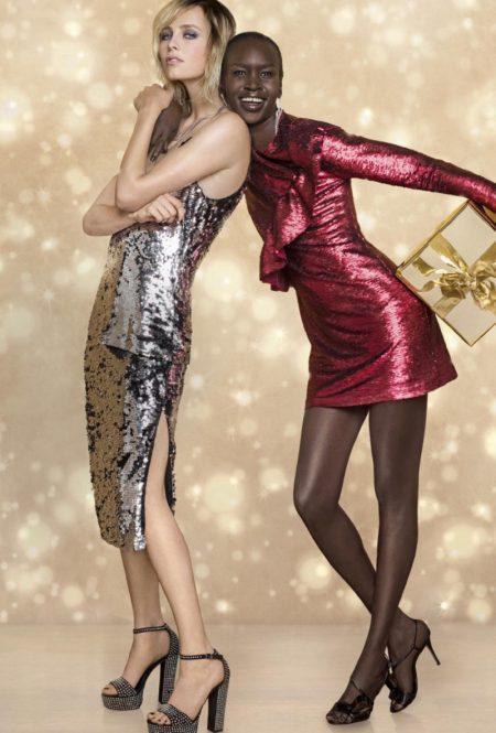 Edie Campbell, Alek Wek Shine in Zalando's Christmas 2017 Campaign