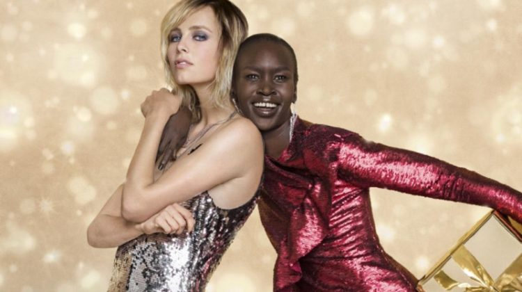 Zalando taps models Edie Campbell and Alek Wek for Christmas 2017 campaign
