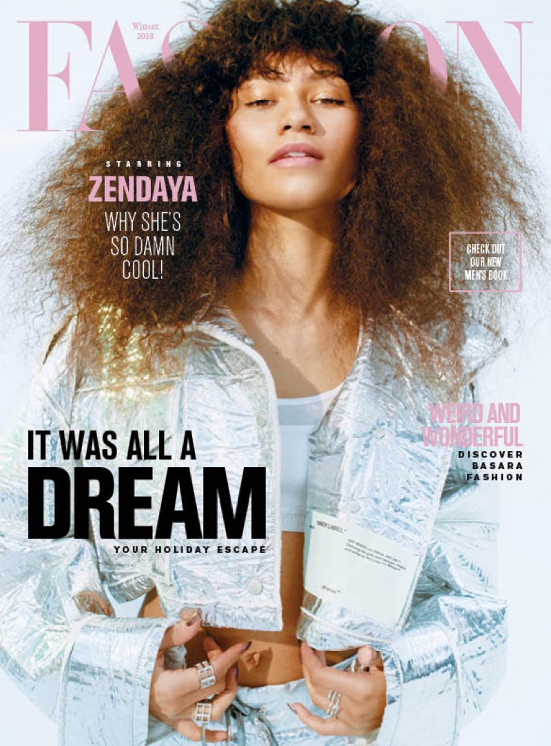 Zendaya on FASHION Magazine Winter 2018 Cover