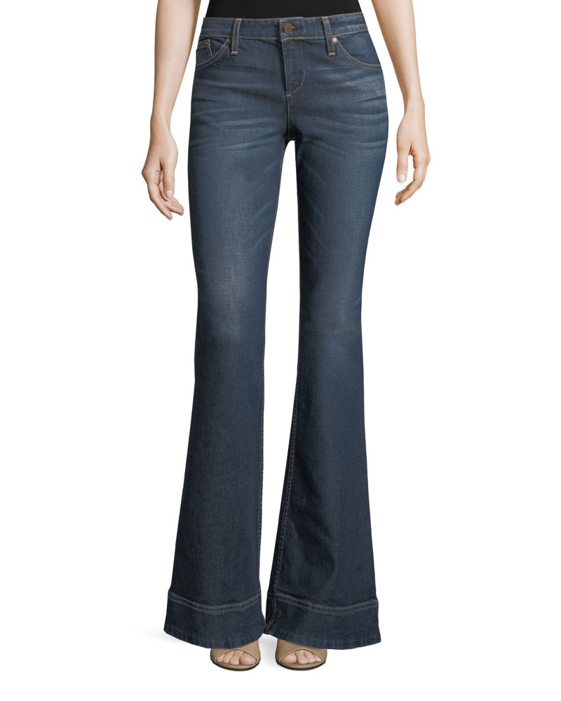 AO.LA Beautiful Low-Rise Bellbottom Jeans $295