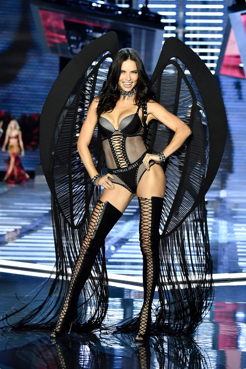 Adriana Lima at the 2017 Victoria's Secret Fashion Show