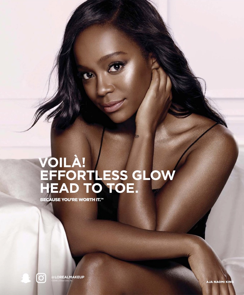 Aja Naomi King stars in L'Oreal Paris campaign