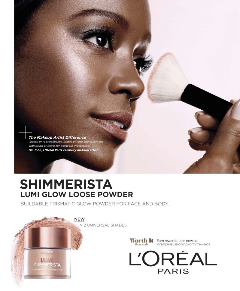 Actress Aja Naomi King fronts L'Oreal Paris Shimmerista campaign