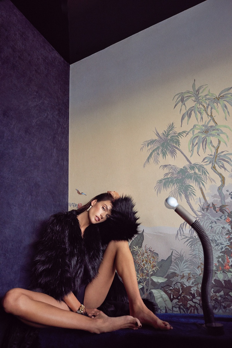 Alessandra Ambrosio Gets Draped in Luxe Coats for Vogue Portugal