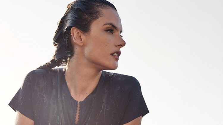 Out of the water, Alessandra Ambrosio poses for OMEGA Watches