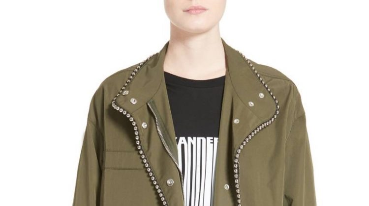 Alexander Wang Chain Trim Twill Parka $597.98 (previously $1,495)