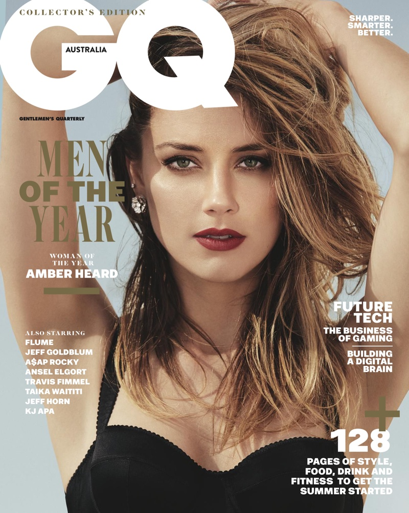Amber Heard on GQ Australia December 2017 Cover