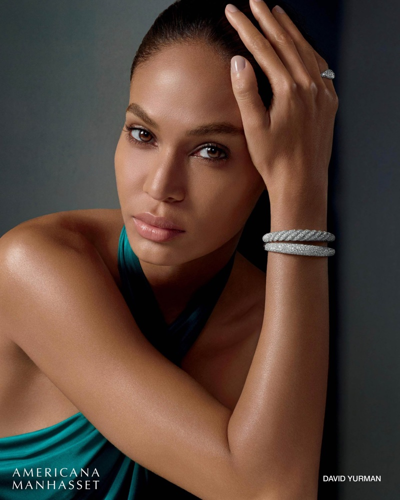 Ready for her closeup, Joan Smalls poses in David Yurman jewelry for Americana Manhasset holiday 2017