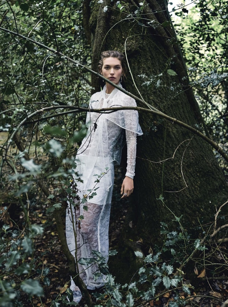 Arizona Muse Poses in the Season's Prettiest Dresses for Harper's Bazaar UK