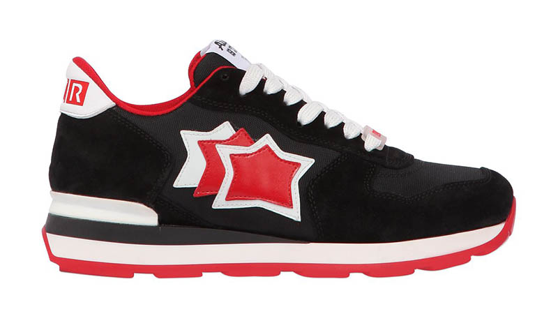 Atlantic Stars x LVR Edition Vega Suede Nylon Sneakers in Black $280