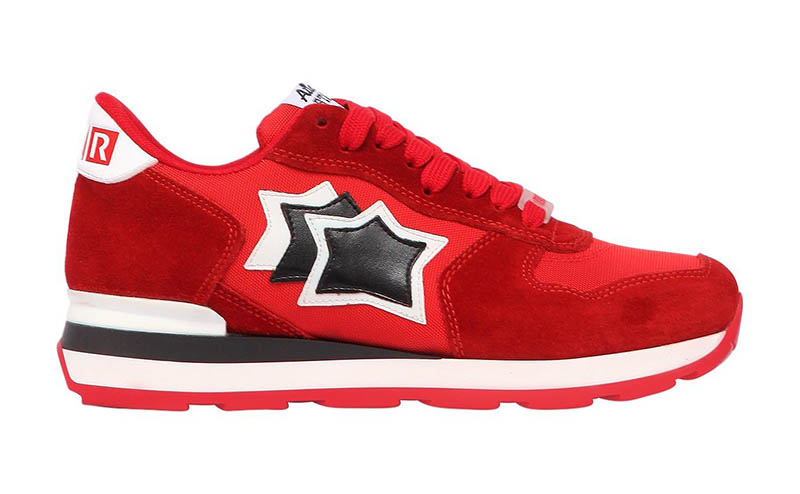 Atlantic Stars x LVR Edition Vega Suede Nylon Sneakers in Red $280