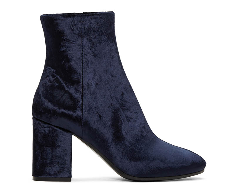 Balenciaga Navy Velvet Ville Boots $617 (previously $995)