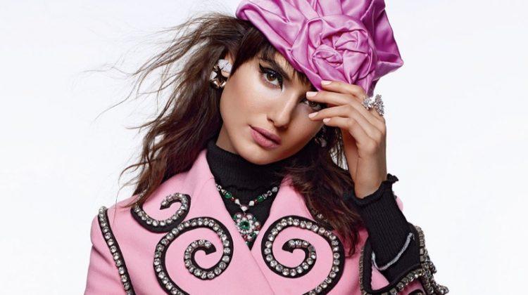 Blanca Padilla Models Rosy Fashions for Vogue Arabia