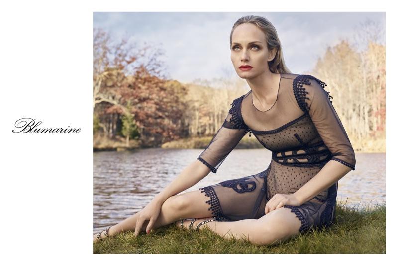 Amber Valletta stars in Blumarine's spring-summer 2018 campaign