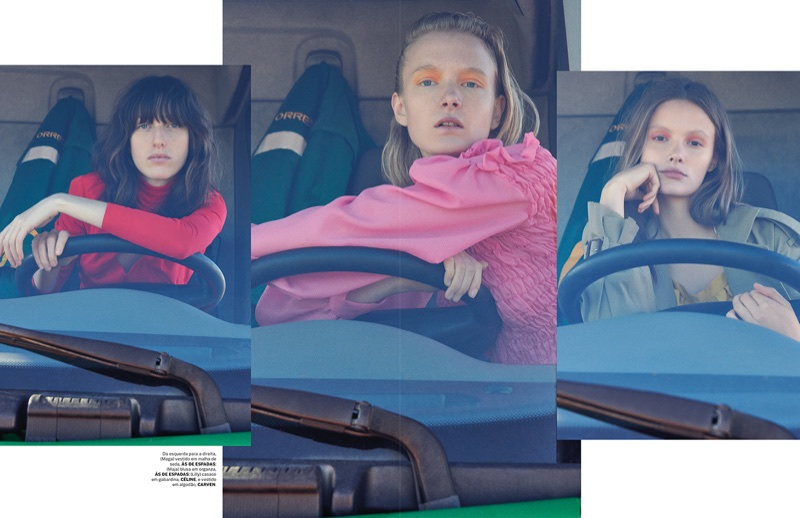 Maja, Lilly & Maga Go for a Stylish Ride in Vogue Portugal