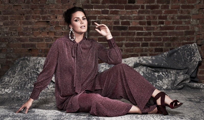 Candice Huffine Poses in Ladylike Looks for The Modist