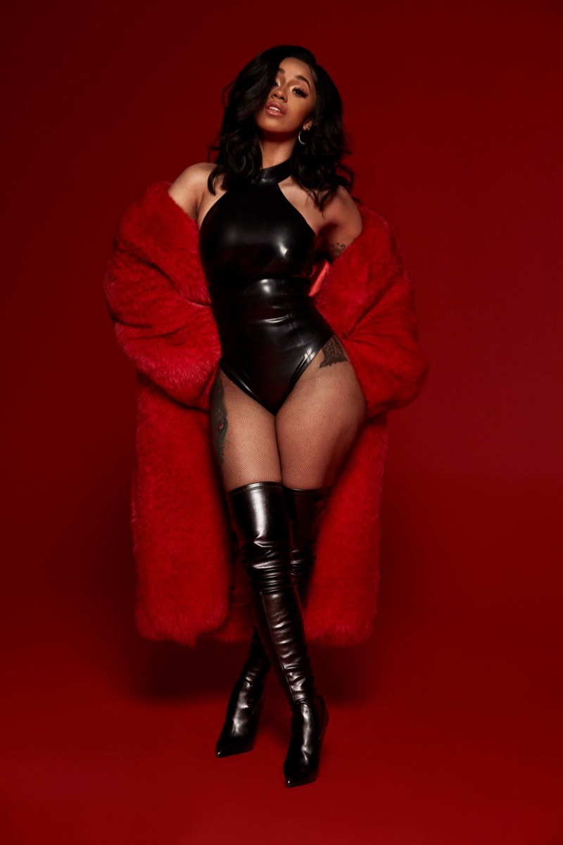 Cardi B wears Steve Madden Dominique boots