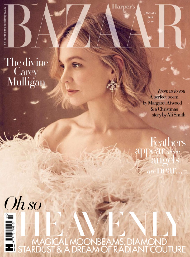 Carey Mulligan on Harper's Bazaar UK January 2018 Cover