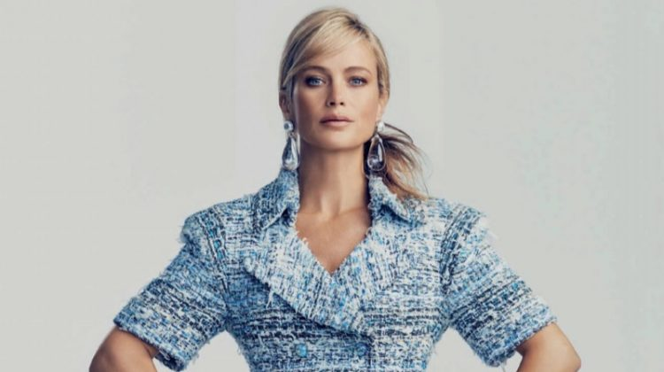 Carolyn Murphy Poses in Ladylike Fashions for Harper's Bazaar Spain