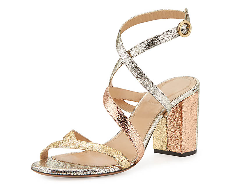 Chloe Metallic Crisscross Sandal $278 (previously $695)