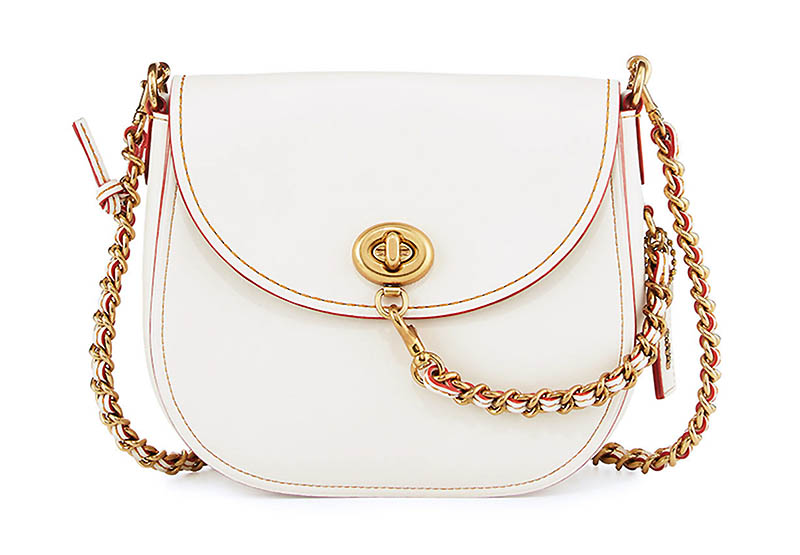 Coach 1941 Leather Turn-Lock Saddle Bag $248.57 (previously $495)