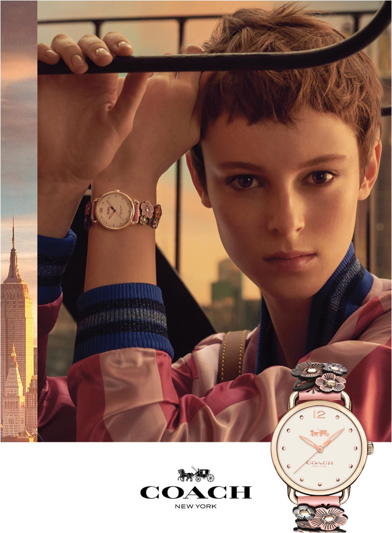 Coach spotlights watch line with spring-summer 2018 campaign