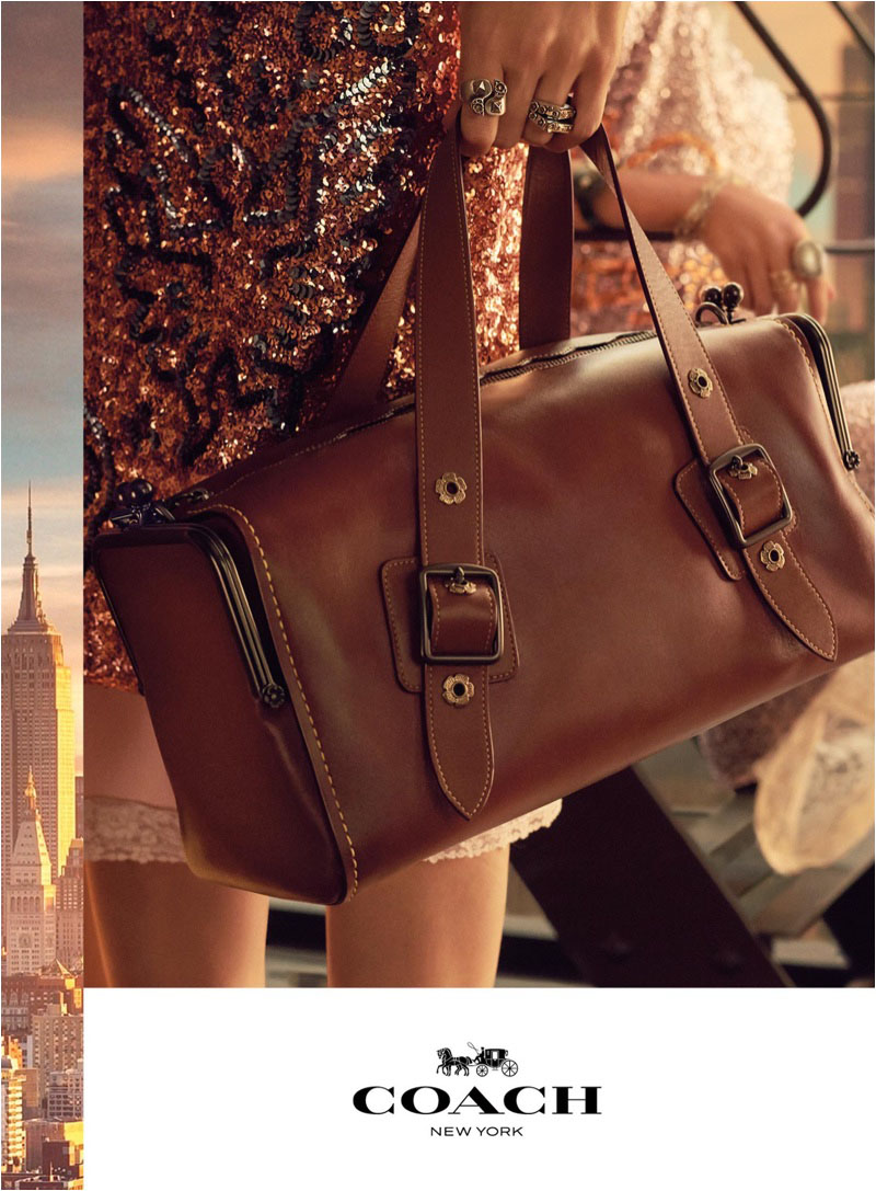 Coach spotlights leather bag for spring-summer 2018 campaign
