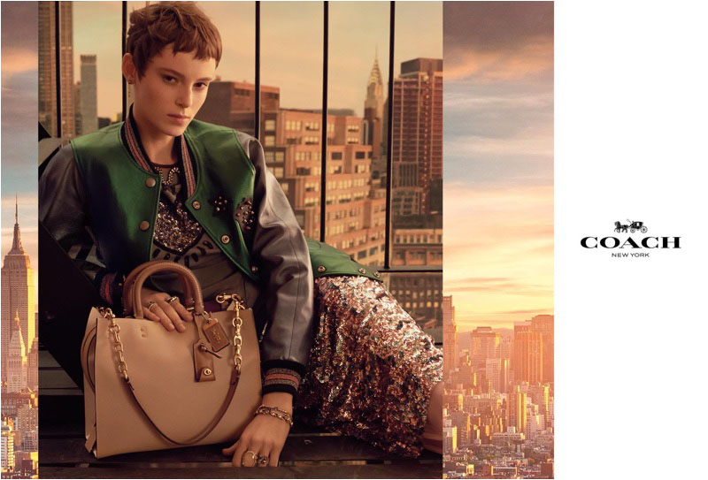 Gisele Fox stars in Coach's spring-summer 2018 campaign